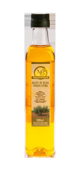 botella 500 ml aceite de oliva virgen extra