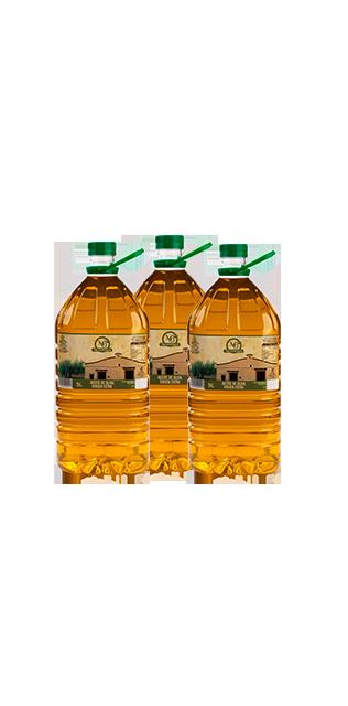pack 3 garrafas 5 litros aceite de oliva virgen extra
