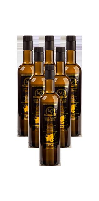 pack 6 botellas 0.75 litro aceite de oliva virgen extra