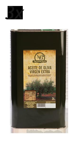 pack ahorro aceite de oliva virgen extra de 3 latas 3 litros