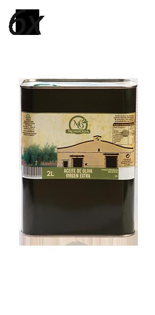 pack aceite de oliva virgen extra en lata de 2 litros