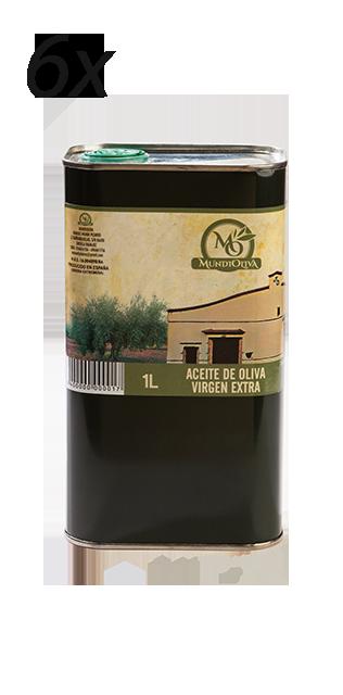 pack aceite de oliva virgen extra en lata de 1 litro